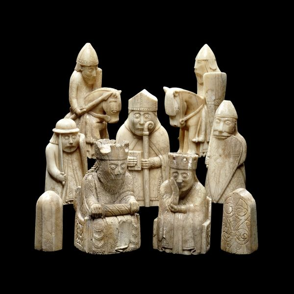 The Lewis Chessmen - Probably made in Scandinavia, thought to be Norway, about AD 1150-1200, Found on the Isle of Lewis, Outer Hebrides, Scotland