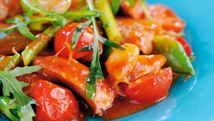 Tomat- og pølsegryte - NytNorge