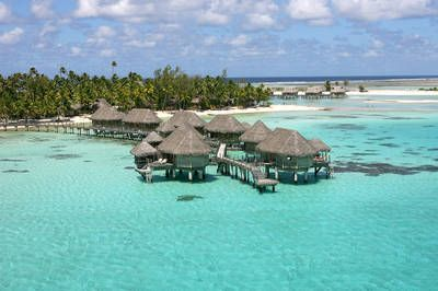 Overwater Suites at the Tikehau Pearl Beach Resort