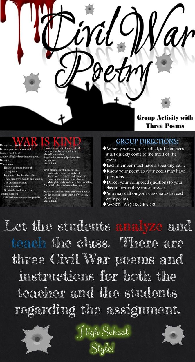 best ideas about civil war activities th grade let the students analyze and teach the class there are three civil war poems and