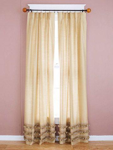 17 Best Ideas About Plain Curtains On Pinterest Burlap Curtains Buttons Ideas And Button Crafts