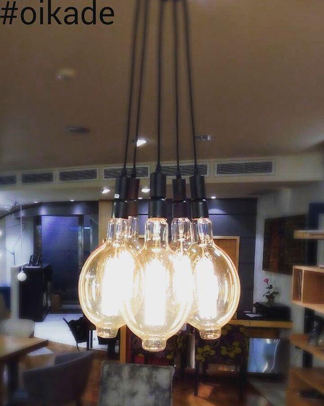#φωτιστικό #edison με λαμπτήρες πυράκτωσης. #lighting #decor #interiordesign #idea #homelove #idomeneos #oikade #designlovers #industrialdecor #vintage #homefashion #fotistiko #oikade #ilion #athens  www.oikade.com.gr