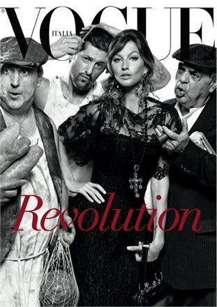 Revolution... in 25 Years of Fashion by Steven Meisel, July 2013 - Dolce & Gabbana