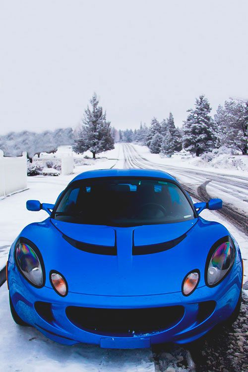 Lotus elise.....i wouldn't take this car out in the snow......maybe my truck, but not this car!