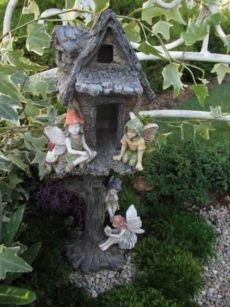 fairy garden miniature house tree house landscaping decor rh pinterest com