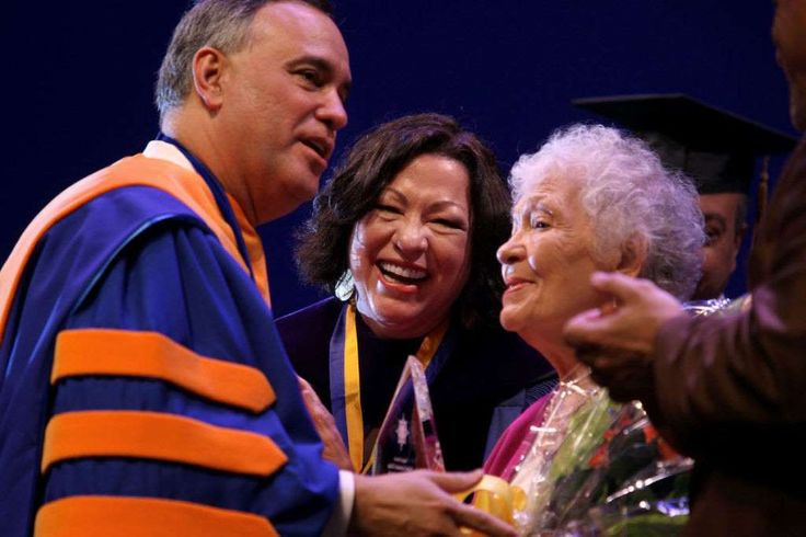 Sonia Sotomayor and her mother, Celina Sotomayor, were honored at Hostos Community College's commenc... - Getty