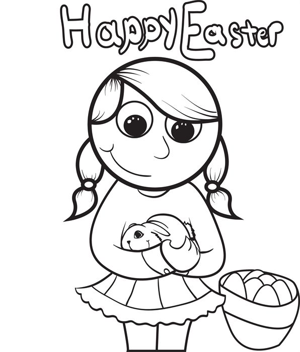 16 Super Cute And Free Easter Printable Coloring Pages For