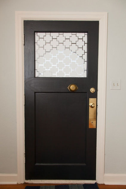 I Love The Pattern On The Door Using White Contact Paper