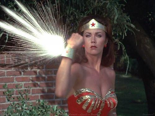 SHE'S A WONDER WONDER WONDER WOMAN: Lynda Carter, Wonder Women, Time Travel, Bracelets, Altered Ego, Bullets Proof, Wonder Woman, Linda Carter