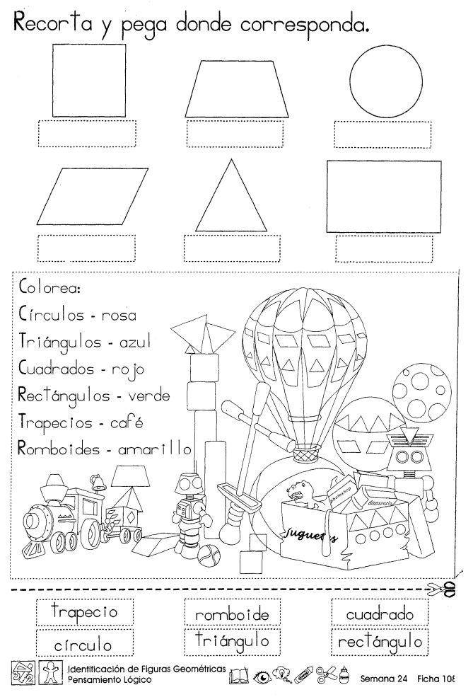 Identificación de figuras geométricas Pensamiento lógico