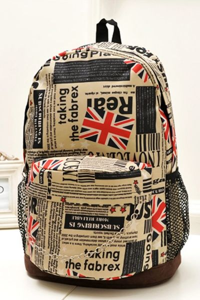 Union Jack Paper Pattern Backpack