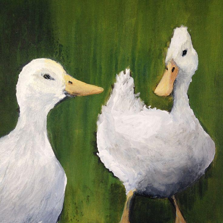 Hello Duckie, Acrylic on canvas 2014. Ingrid Bowen Art