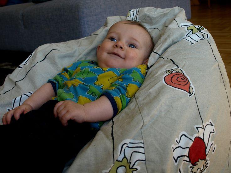 Baby's bean sack chair.