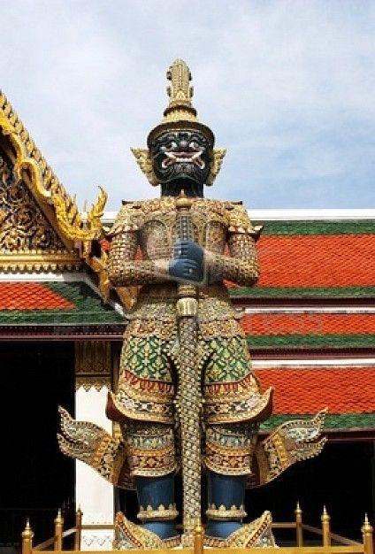 Wat Pho the huge giant statue Bangkok Thailand