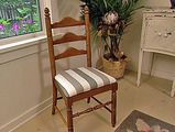 Very good directions, with pictures, for reupholstering dining room chairs. I think I can take these same instructions and adapt them for my non-upholstered dining room chairs.