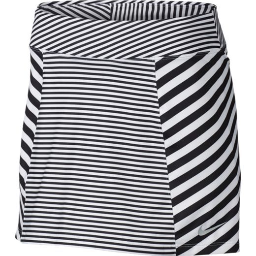 White/Black Nike Ladies Precision Knit Print 2.0 Pull On #Golf Skort. More ladies outfits at #lorisgolfshoppe
