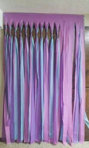 DIY . Gorgeous and easy to make! Uses Dollar Store Plastic Tablecloths !