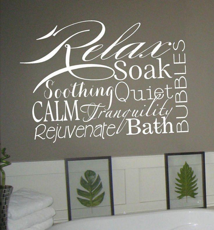 best 25 bathroom wall decals ideas on pinterest laudry room ideas laundry room small ideas and wall vinyl - Bathroom Wall Decals