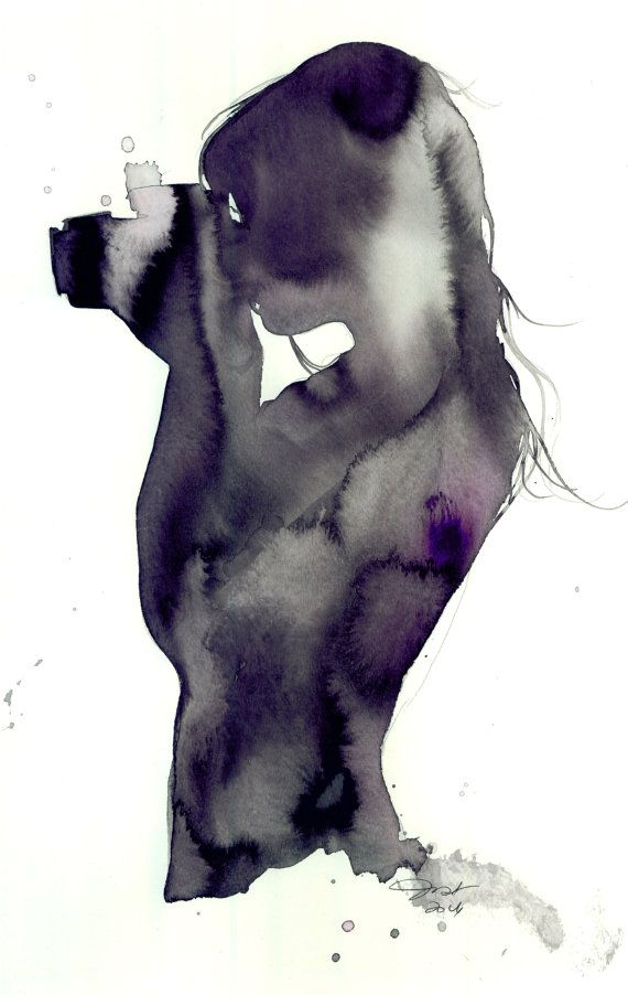 Shoot Me, print from original watercolor illustration by Jessica Durrant