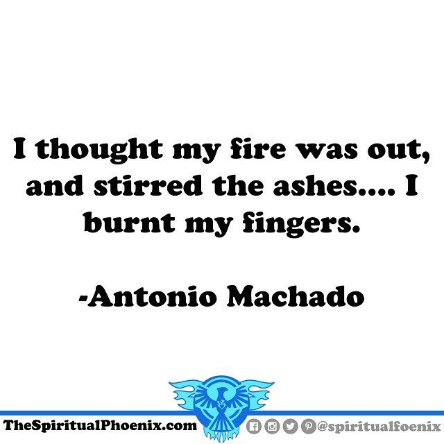 #AntonioMachado #philosophy #spirituality #spiritual #quote #quotes #fire #keepgoing #phoenix #beaphoenix #risefromtheashes #dontstop #growthroughit