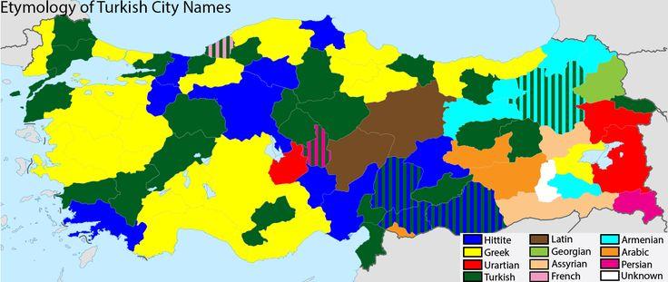 Etymology of Turkish City Names