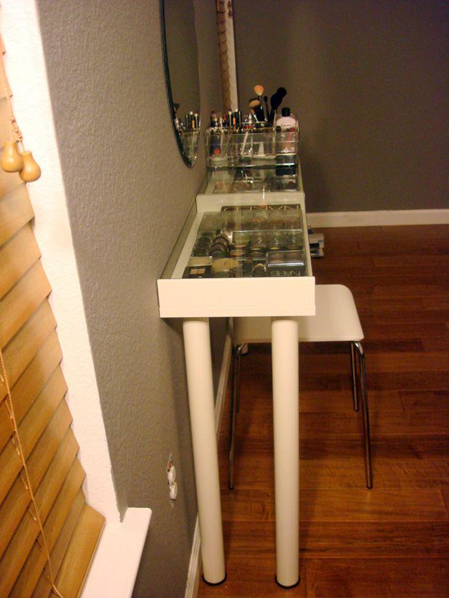 diy ikea makeup vanity makeup vanities vanities and makeup. Black Bedroom Furniture Sets. Home Design Ideas