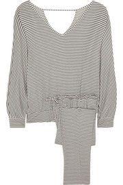 EberjeySadie striped stretch-jersey pajama set