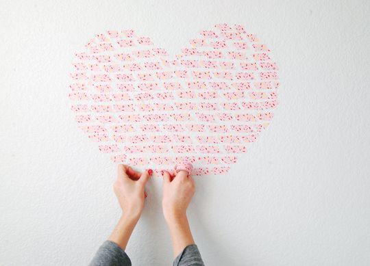 Washi Tape Heart Installation | The Proper Pinwheel