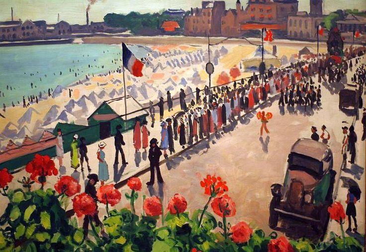 albert marquet les sables | Fête aux sables d'Olonne par Albert Marquet 1933 - Musée des Beaux ...