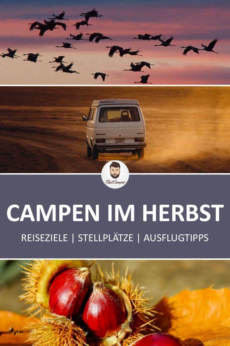Destinos com o campista na Alemanha no outono   – Beste Reiseziele mit dem Wohnmobil