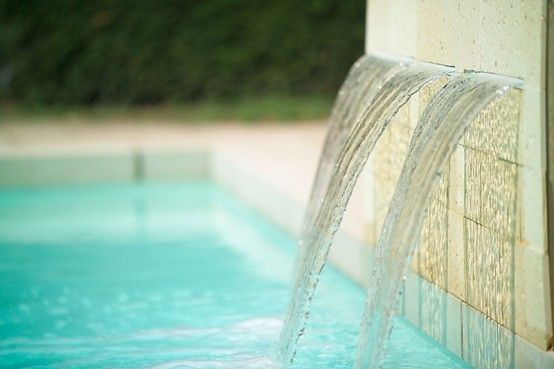 Charming Swimming Pool Fountain Powerfall By Zodiac Pooclare