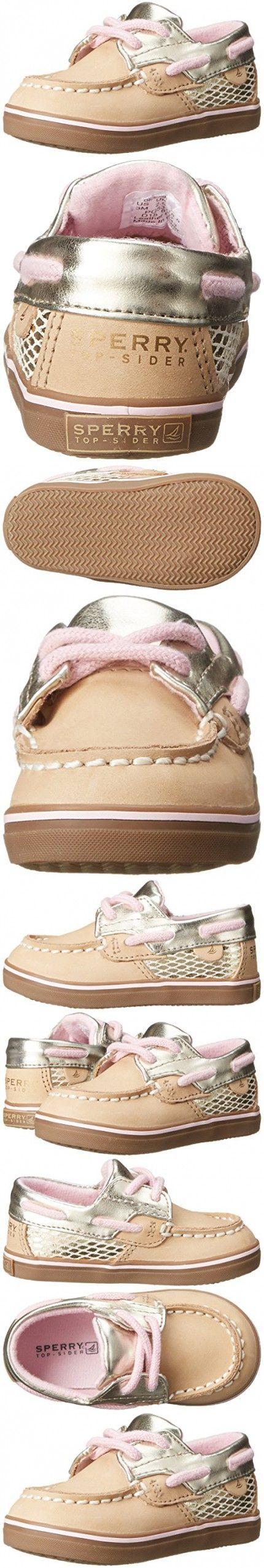 Sperry Bluefish Crib Boat Shoe (Infant/Toddler), Silver Cloud, 3 M US Infant