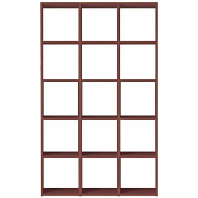 スタッキングシェルフセット・5段×3列・ウォールナット材