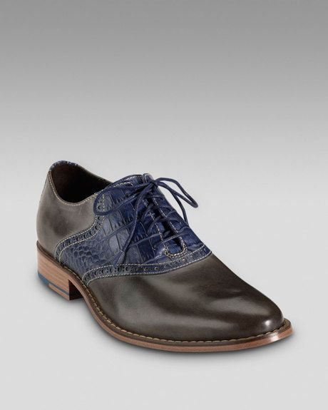 Cole Haan Air Colton Saddle Shoe, Gray/navy in Gray for Men.