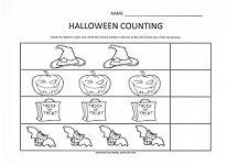 lots of fun halloween themed worksheets for preschoolers matching colors counting - Halloween Worksheets Preschool