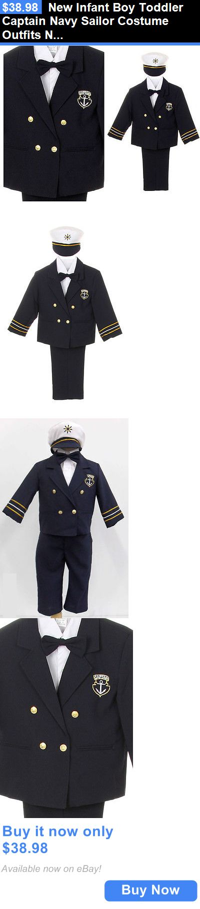 Halloween Costumes Kids: New Infant Boy Toddler Captain Navy Sailor Costume Outfits Nb Baby To 7 Years BUY IT NOW ONLY: $38.98