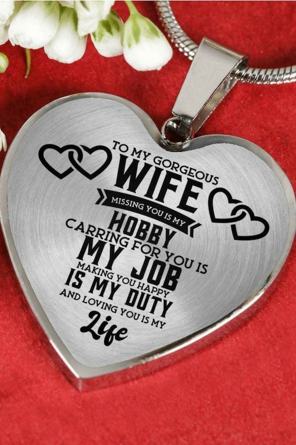 Beautiful To My Husband Necklace From Wife Best Gift For Birthday Graduation Military Weddin Gifts For My Wife Birthday Cake For Wife Wife Birthday Quotes
