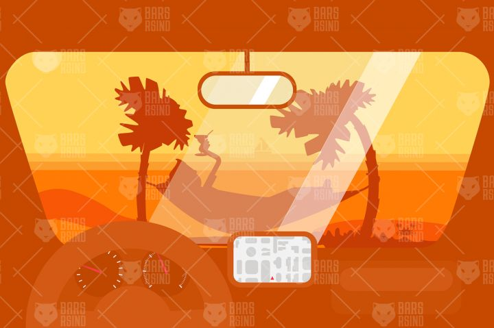 Travel By Car To The Beach By Barsrsind Shop
