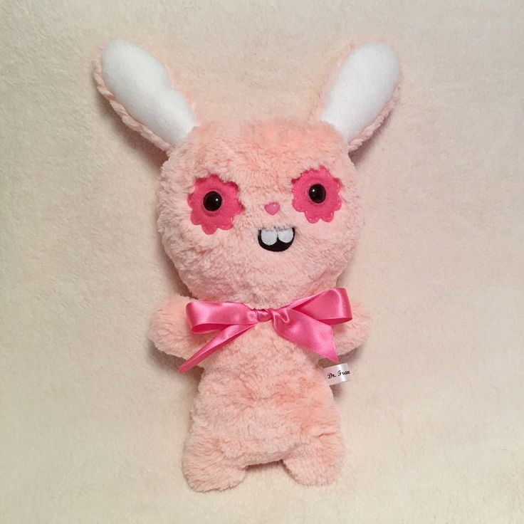 Peach Ugly Bunny Rabbit Plush Toys Kawaii Plushie Creepy Cute OOAK Art Doll Valentines Gifts for Her Creepy Stuffed Animals Weird Toy by DrFrankenBecky on Etsy https://www.etsy.com/uk/listing/493976520/peach-ugly-bunny-rabbit-plush-toys