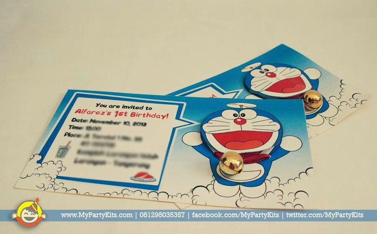 Party invitations with bell by My Party Kits