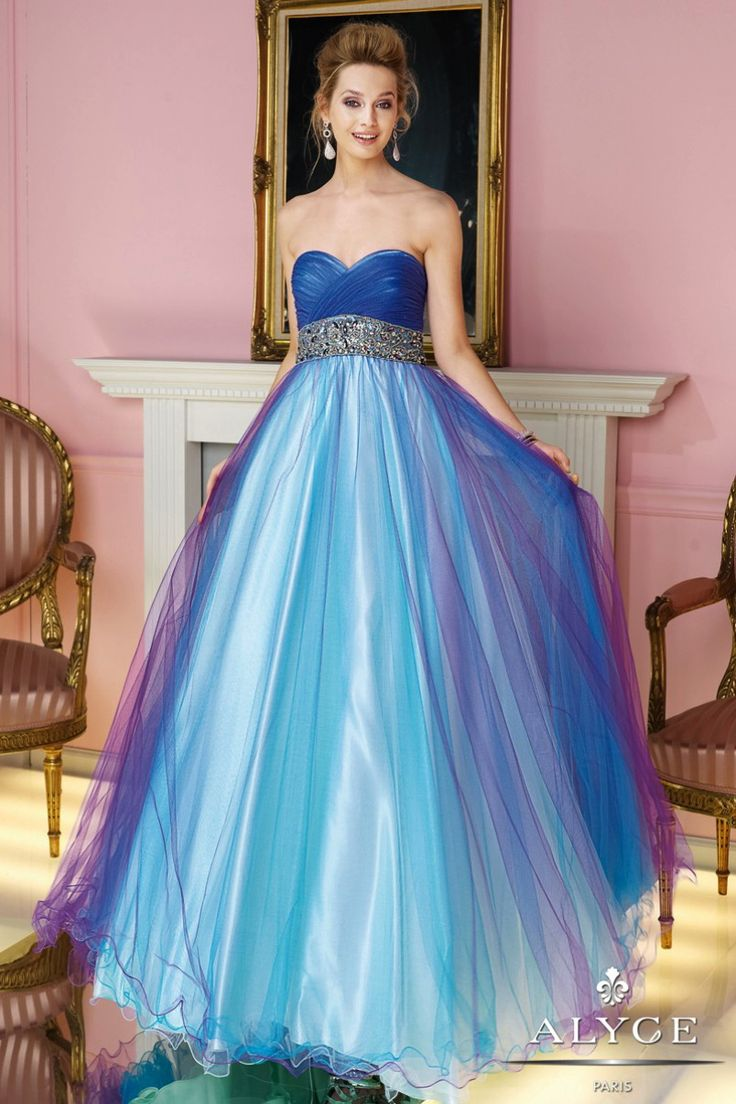 Luxury Blue And Purple Wedding Dresses Collection - All Wedding ...