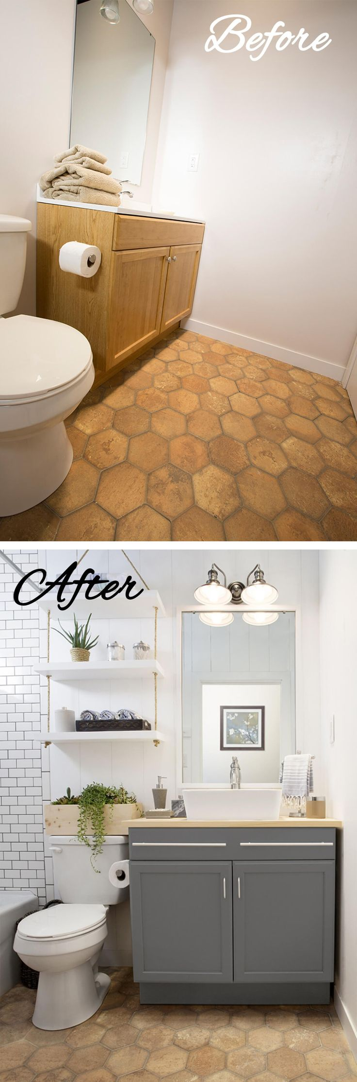 28 Before and After Budget Friendly Bathroom