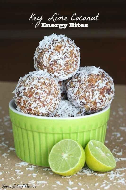 Key Lime Coconut Energy Bites   29 Tasty Vegetarian Paleo Recipes @Molly Simon Simon Simon Simon Simon Sullivan