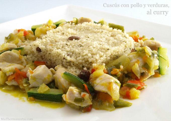 Cuscús con pollo y verduras, al curry - MisThermorecetas.com