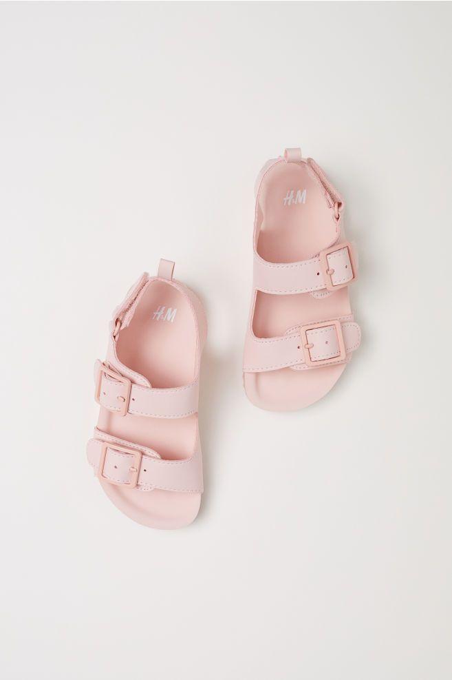 Sandaly Jasnorozowy Dziecko H M Pl Cute Baby Shoes Baby Girl Sandals Baby Girl Shoes
