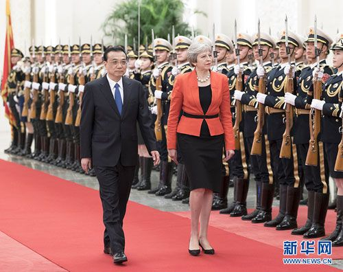 Li Keqiang and Prime Minister Theresa May of the UK Hold Annual China-UK Prime Ministers' Meeting