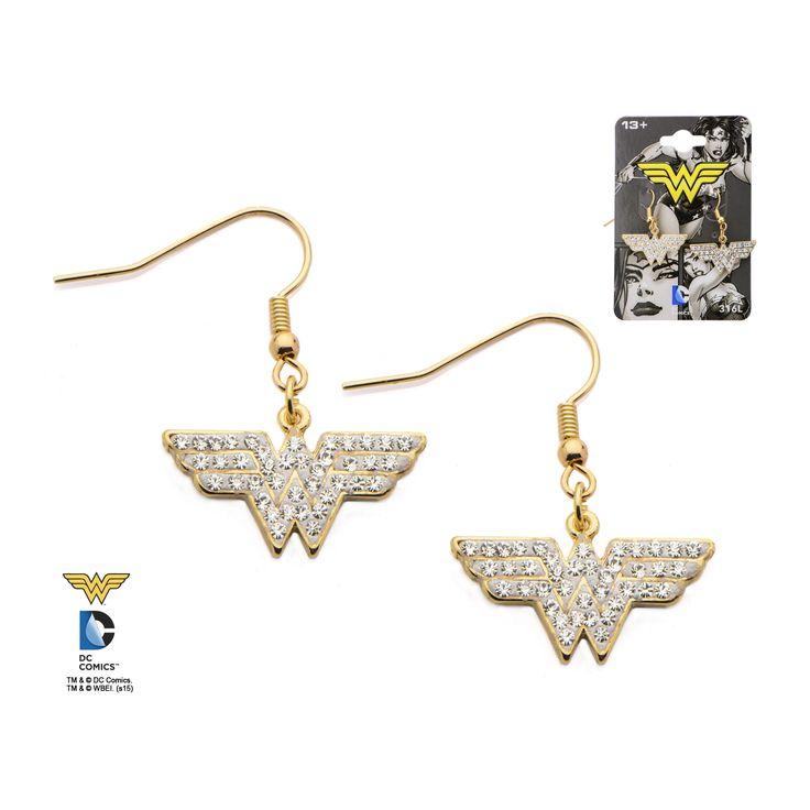 c2a7a2fbe Discover ideas about Stainless Steel Earrings. Dc Comics Wonder Woman Logo  Gold ...