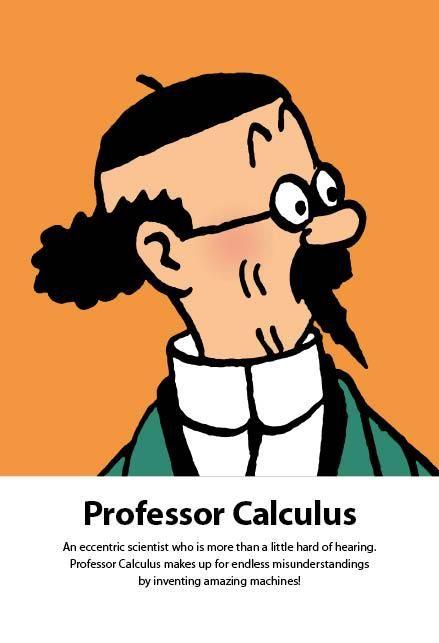 'Red Rackham's Treasure' character of Professor Calculus (in English).