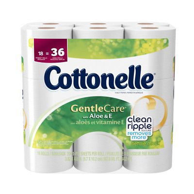 Cottonelle Toilet Paper Gentle Care 18 Double Rolls Sewer Safe And Septic