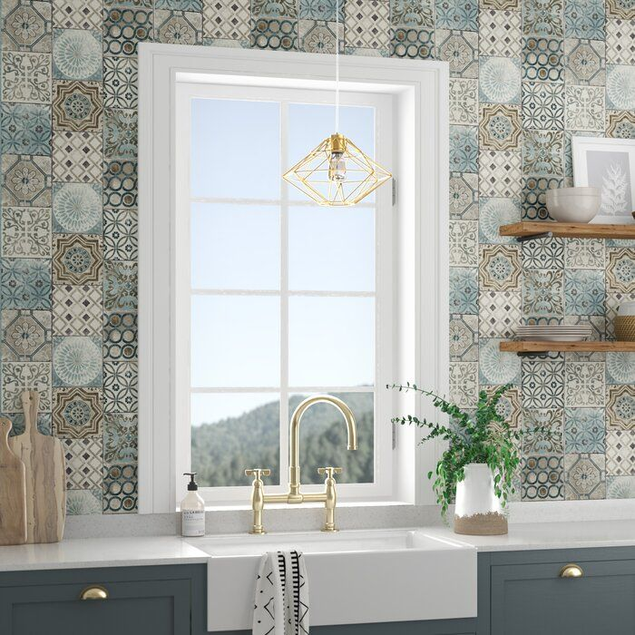 Cormier Moroccan Tile 18 L X 20 5 W Peel And Stick Wallpaper Roll Moroccan Tile Tile Wallpaper Wallpaper Roll